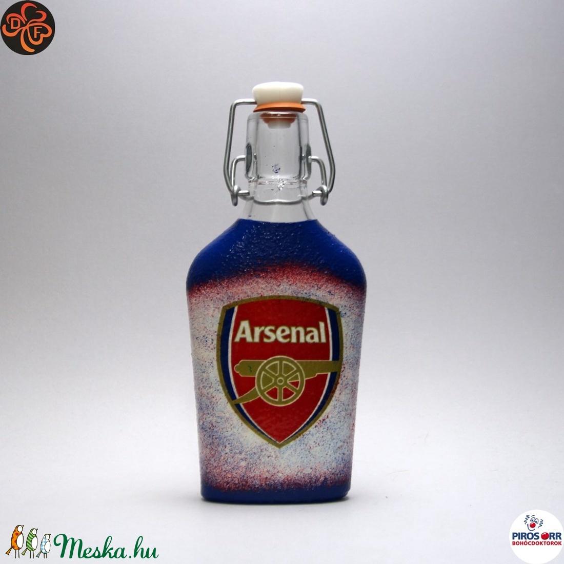 ARSENAL csatosüveg  ; Igazán egyedi Arsenal szurkolói ajándék. (decorfantasy) - Meska.hu