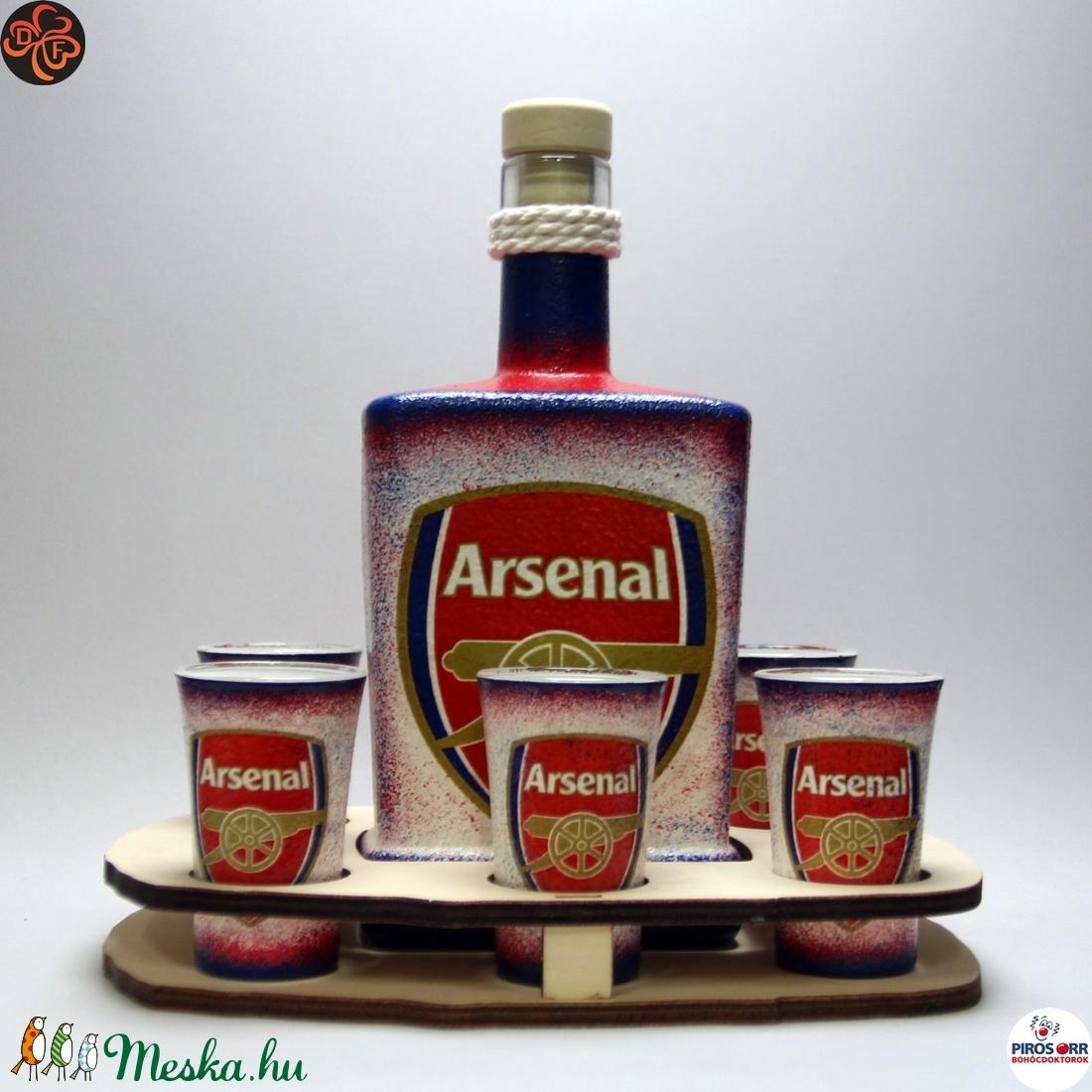 ARSENAL pálinkás szett  ; Arsenal futball szurkolóknak (decorfantasy) - Meska.hu