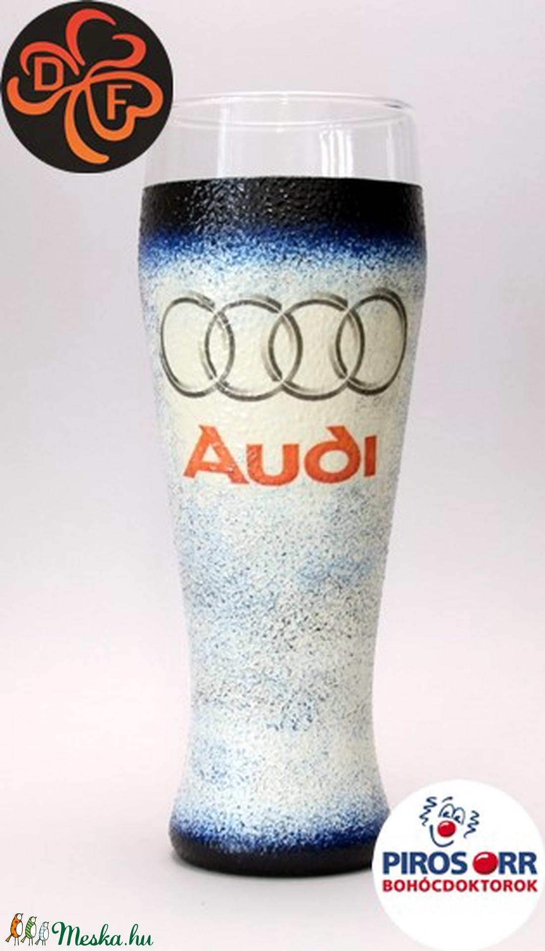 Audi sörös pohár ; Audi rajongóknak (decorfantasy) - Meska.hu