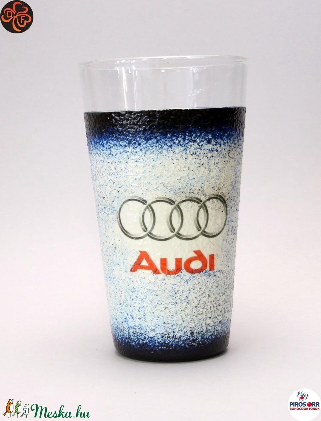 Audi üdítős pohár ; Audi rajongóknak (decorfantasy) - Meska.hu