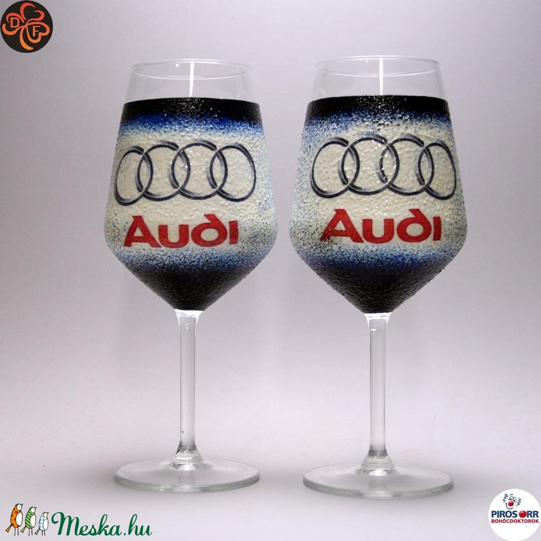 Audi borospohár ; Audi rajongóknak (decorfantasy) - Meska.hu