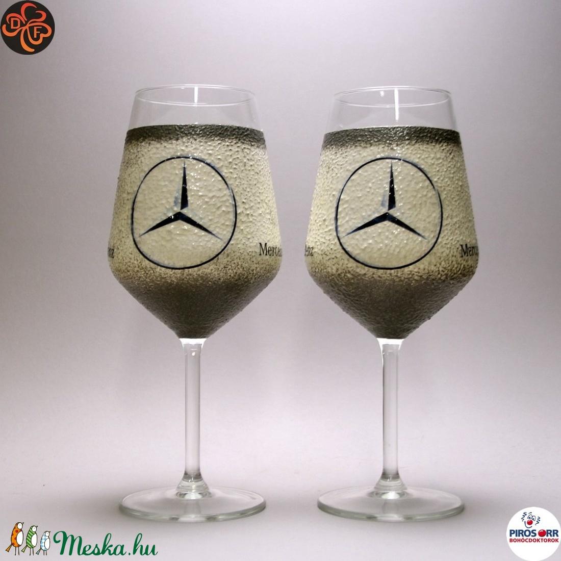 MERCEDES borospohár ; Mercedes rajongóknak, férjeknek, barátoknak - Meska.hu