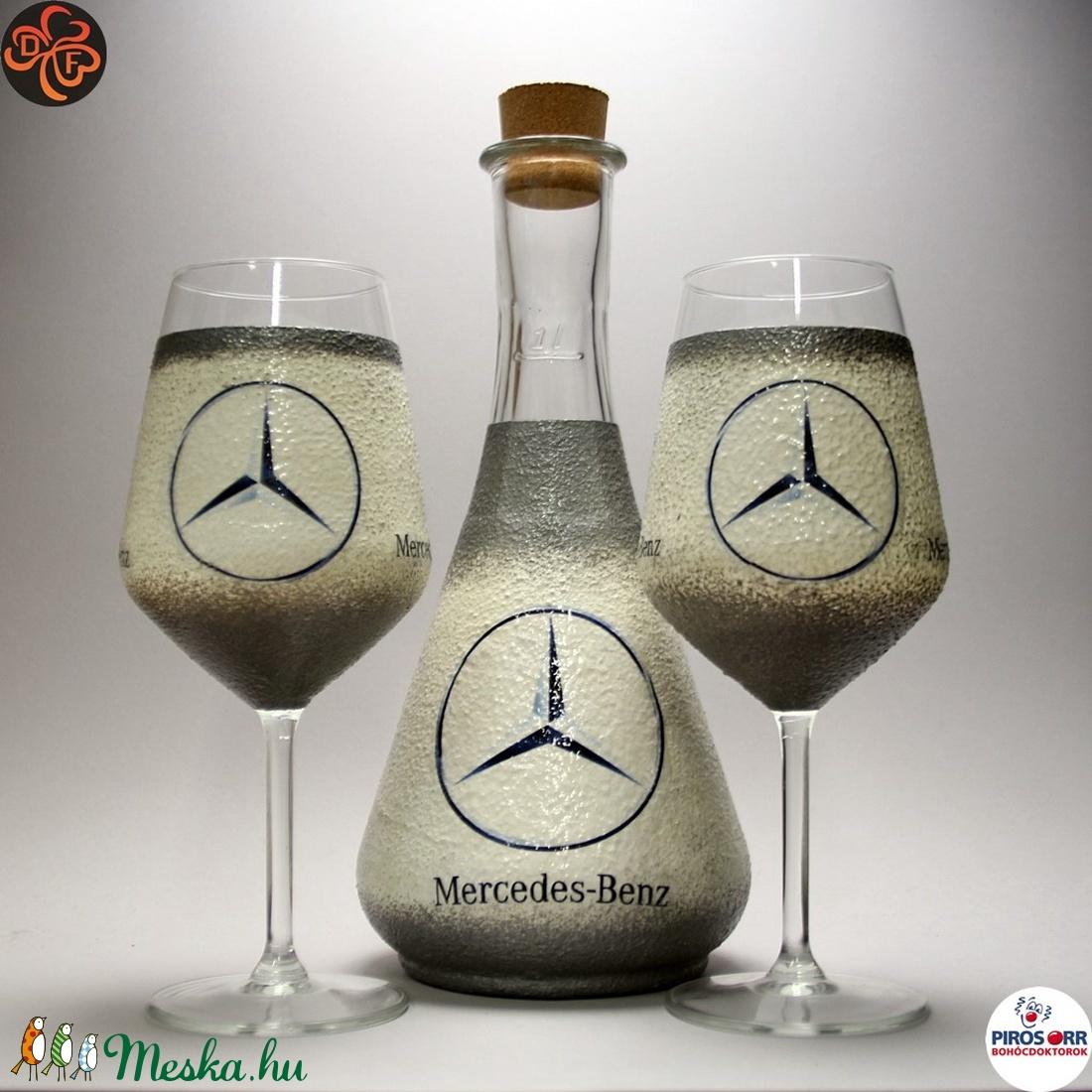 MERCEDES boros készlet ; Mercedes rajongóknak, férjeknek, barátoknak (decorfantasy) - Meska.hu