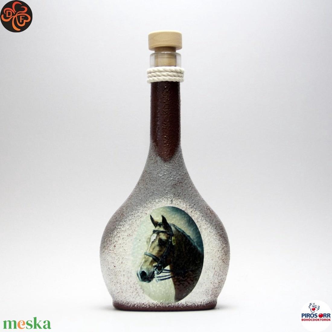 Ló - lovas italos üveg ; Lovak kedvelőinek - Meska.hu