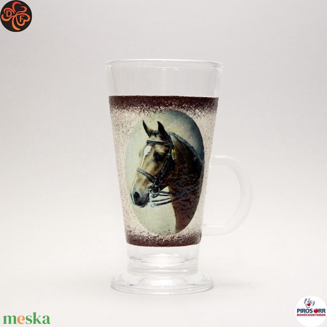 Ló - lovas kávés pohár ; Lovak kedvelőinek - otthon & lakás - konyhafelszerelés - pohár - Meska.hu