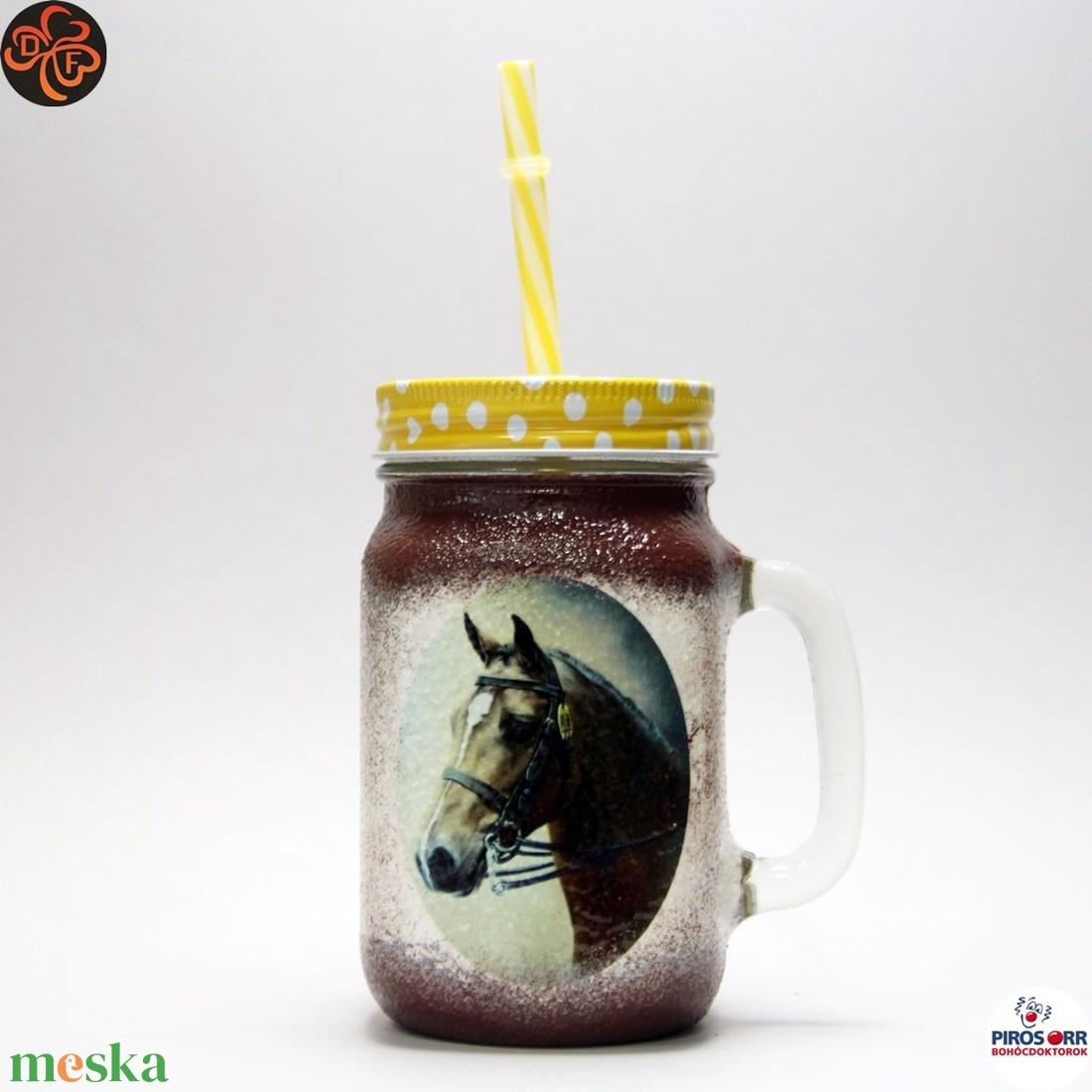 Ló - lovas üdítős pohár ; Lovak kedvelőinek (decorfantasy) - Meska.hu