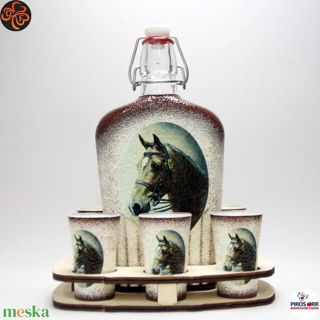 Ló - lovas pálinkás készlet ; Lovak kedvelőinek - Meska.hu