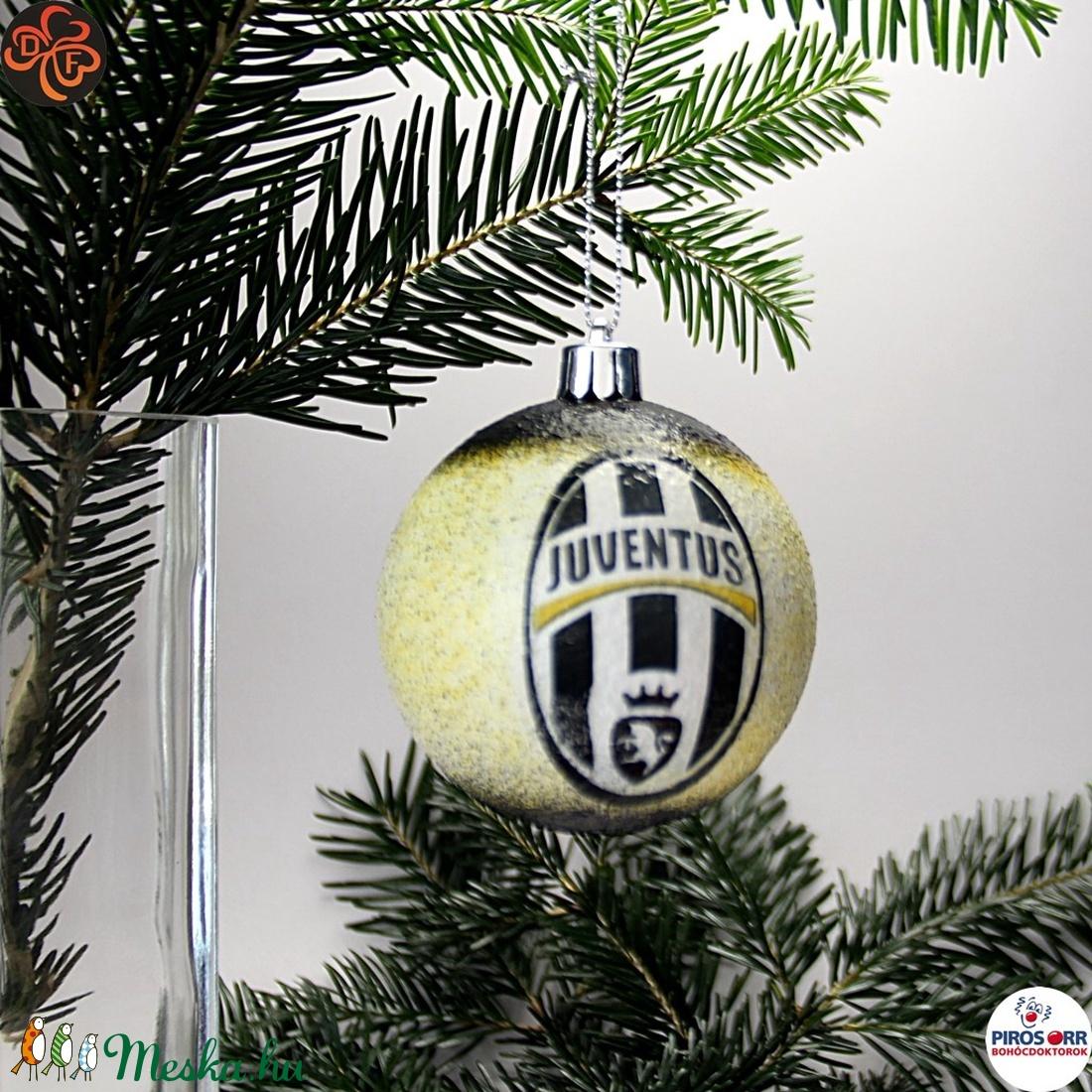 Karácsonyfadísz Juventus ; Ajándék férfi, fiú, barát, Juventus szurkoló részére (decorfantasy) - Meska.hu