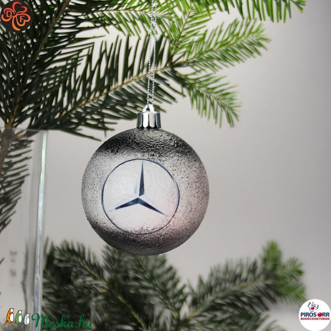 Karácsonyfadísz Mercedes; Ajándék férj, barát, nagyapa, Mercedes szurkoló részére (decorfantasy) - Meska.hu