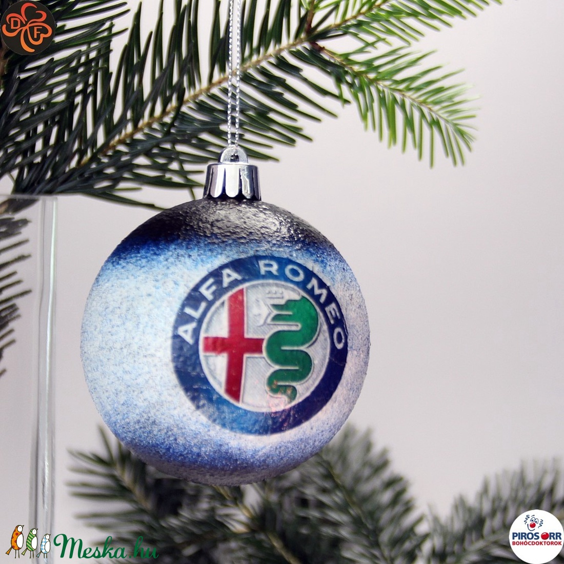 Karácsonyfadísz Alfa Romeo ; Ajándék férfi, fiú, barát Alfa Romeo rajongók részére (decorfantasy) - Meska.hu