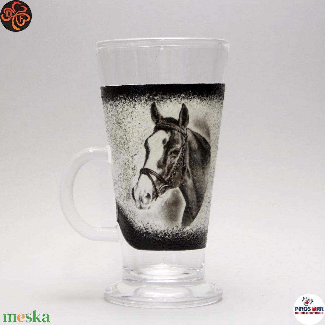 Ló - lovas kávés pohár ; Lovak kedvelőinek - Meska.hu