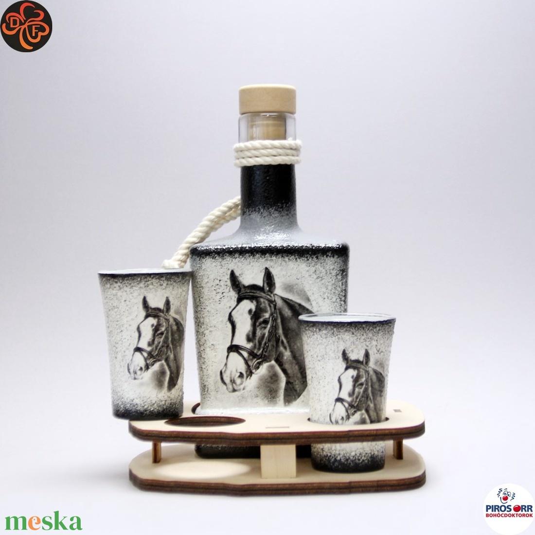 Ló - lovas whiskys szett ; Lovak kedvelőinek - Meska.hu