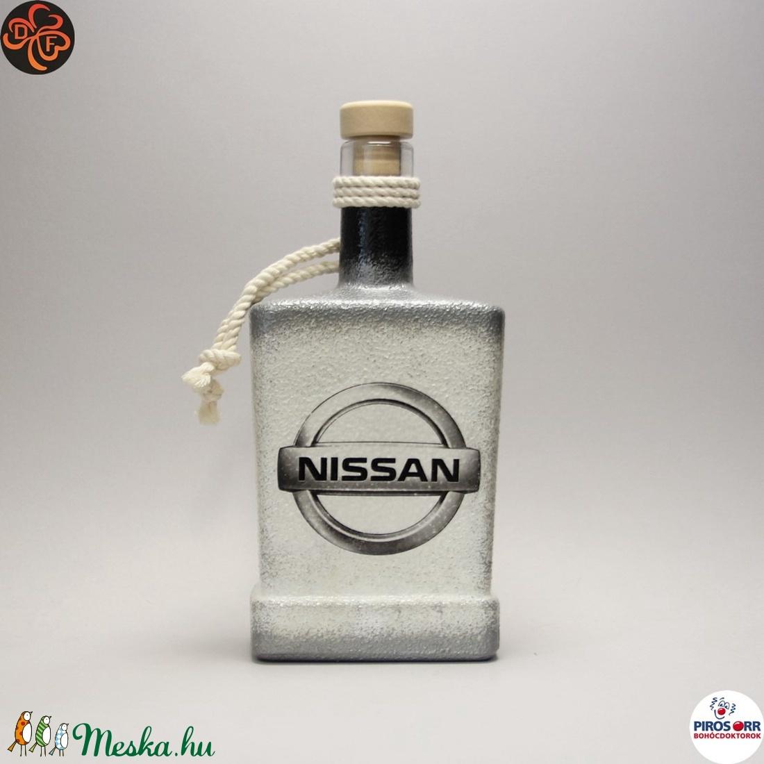 NISSAN italos üveg; autó rajongóknak, férfiaknak, barátnak születésnapra, névnapra, karácsonyra - Meska.hu