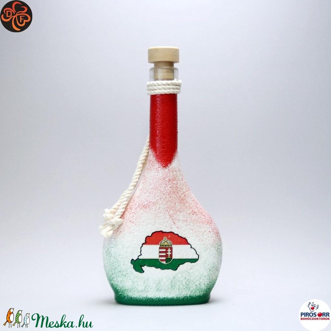 Nagy-Magyarország pálinkás üveg ; TRIANON ;  - Meska.hu