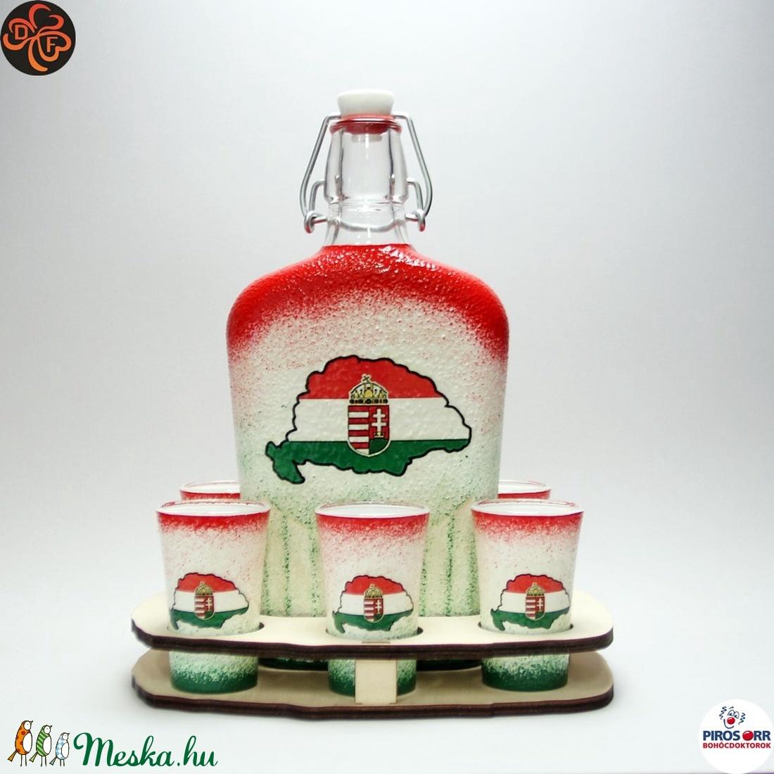 Nagy-Magyarország nagy családi italszett ; TRIANON ;  - Meska.hu