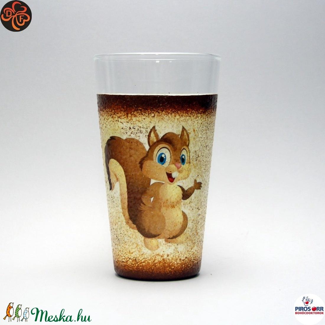Pohár kicsiknek mókus (decorfantasy) - Meska.hu