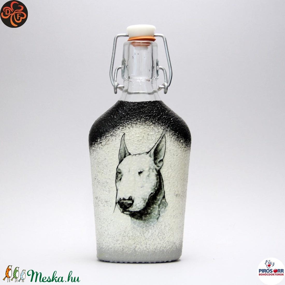Kutya BULLTERRIER italos üveg ; Házi kedvenc rajongóknak  (decorfantasy) - Meska.hu