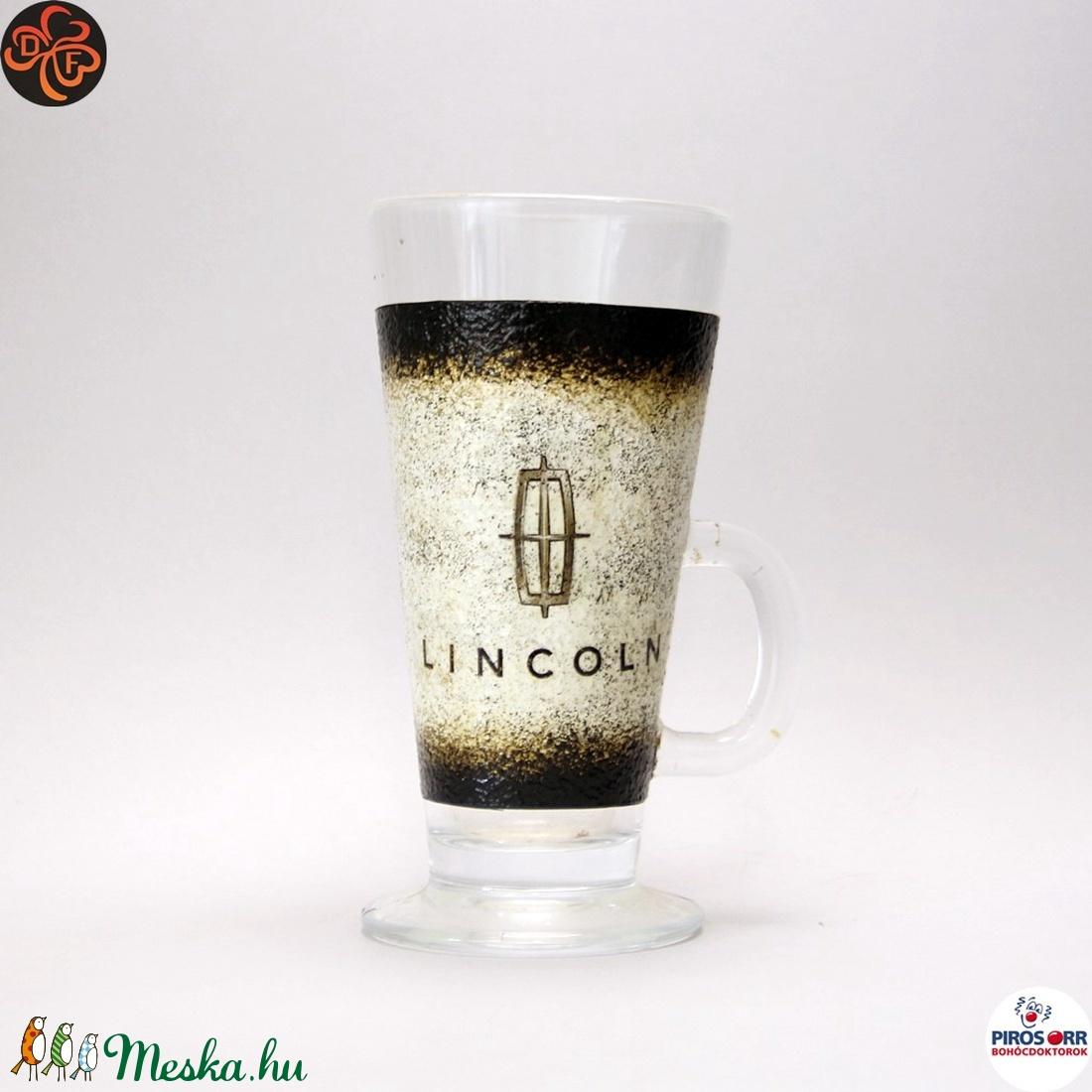 Lincoln emblémás kávéspohár ; amerikai autó kedvelőknek ;kávé imádóknak (decorfantasy) - Meska.hu
