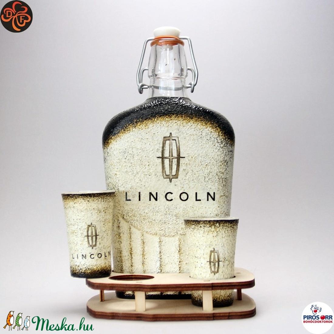 Lincoln emblémás italszett ; amerikai autó kedvelő férfiaknak (decorfantasy) - Meska.hu