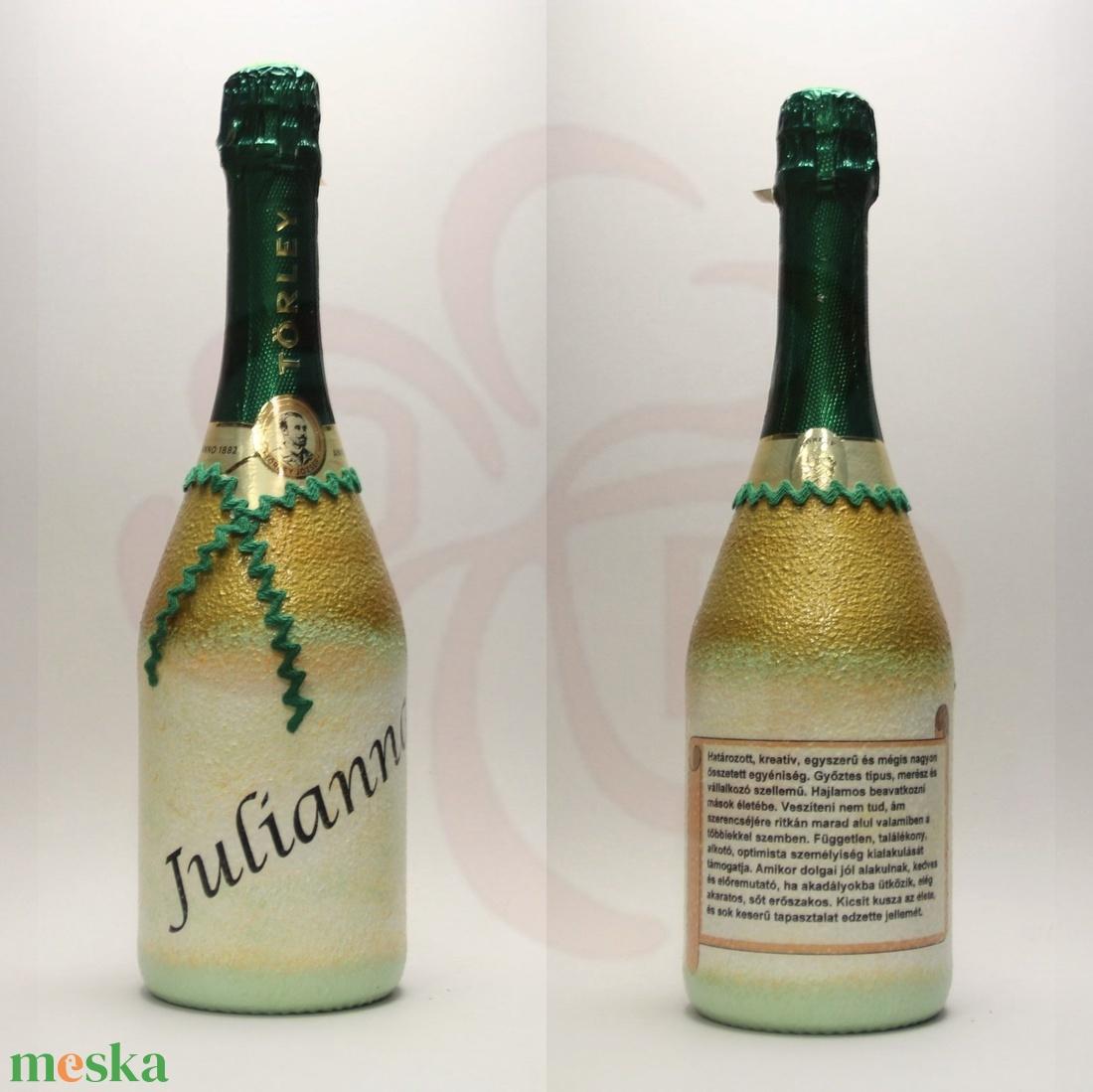 Neves-névnapos JULIANNA nevű nőknek, neves ajándék pezsgő - Meska.hu