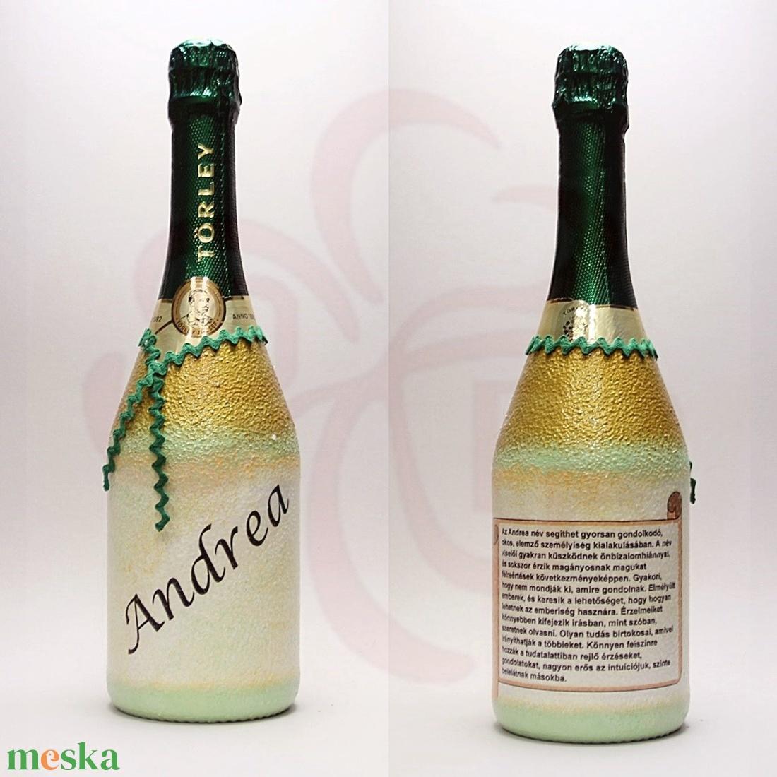 Neves-névnapos ANDREA nevű nőknek, neves ajándék pezsgő - Meska.hu