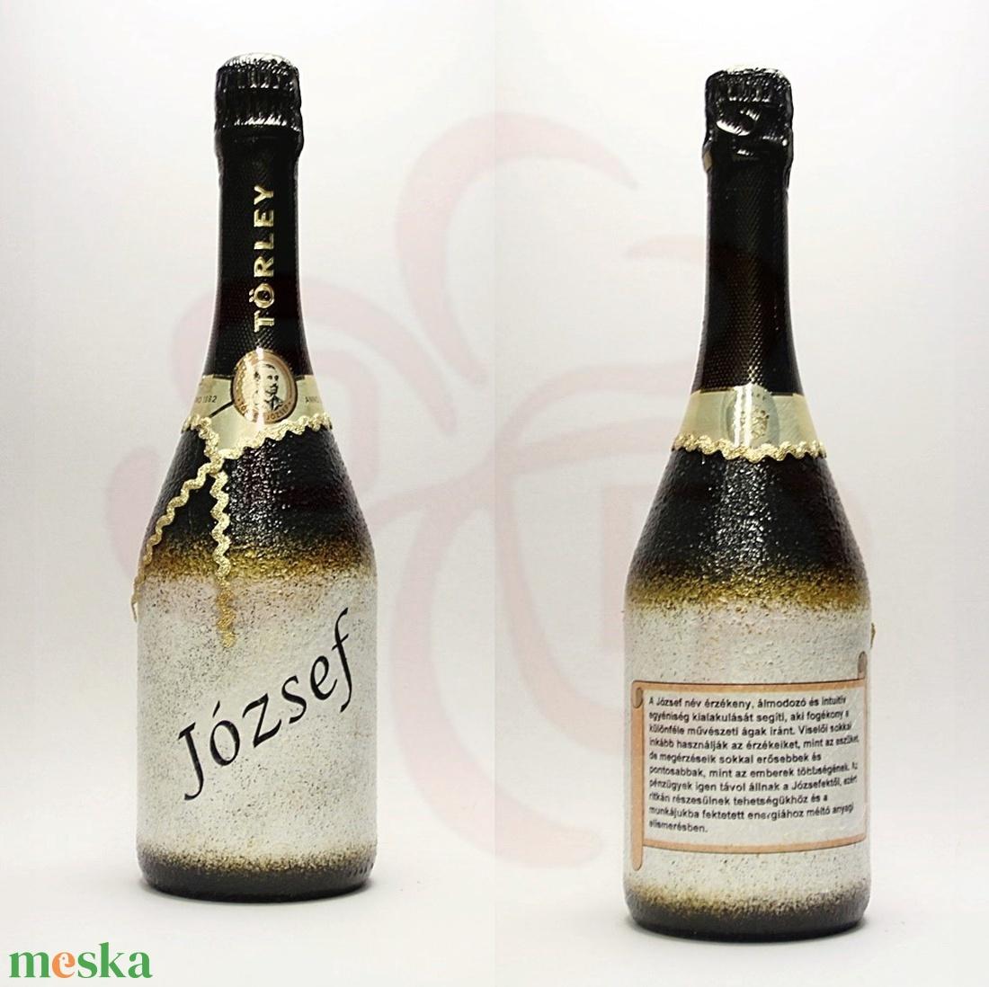 Neves-névnapos JÓZSEF nevű férfiaknak, neves ajándék pezsgő - Meska.hu