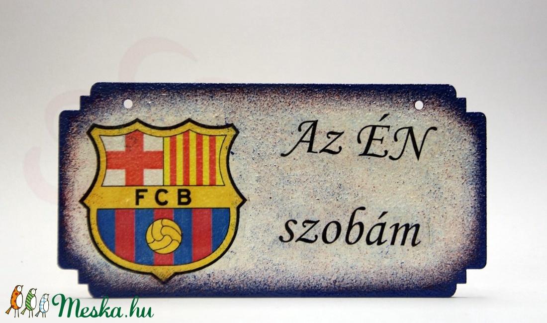 FC Barcelona fatábla ; Barcelona foci szurkoló fiúknak, gyerekeknek - Meska.hu