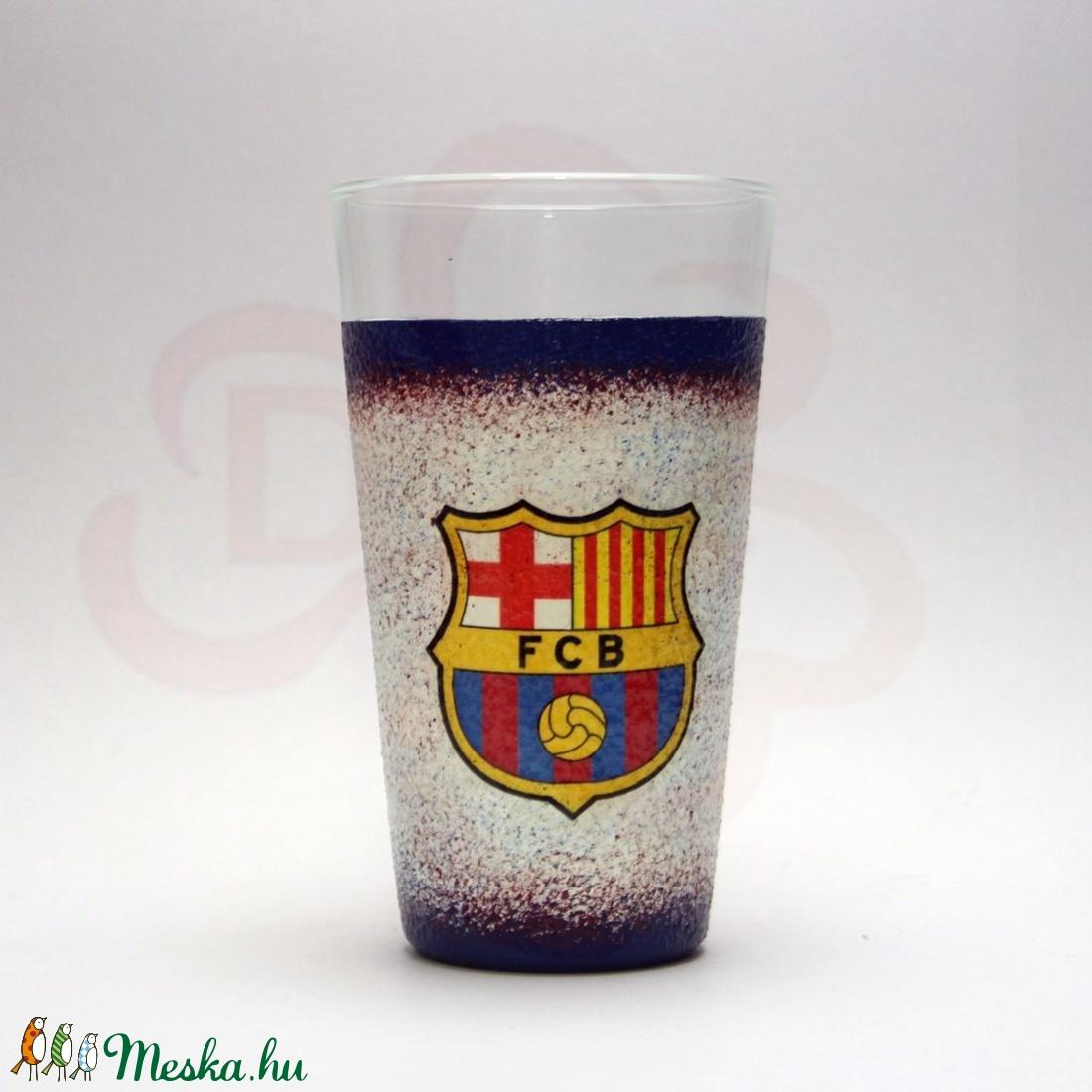 FC Barcelona üdítős pohár ; Barcelona foci szurkoló fiúknak, gyerekeknek - Meska.hu