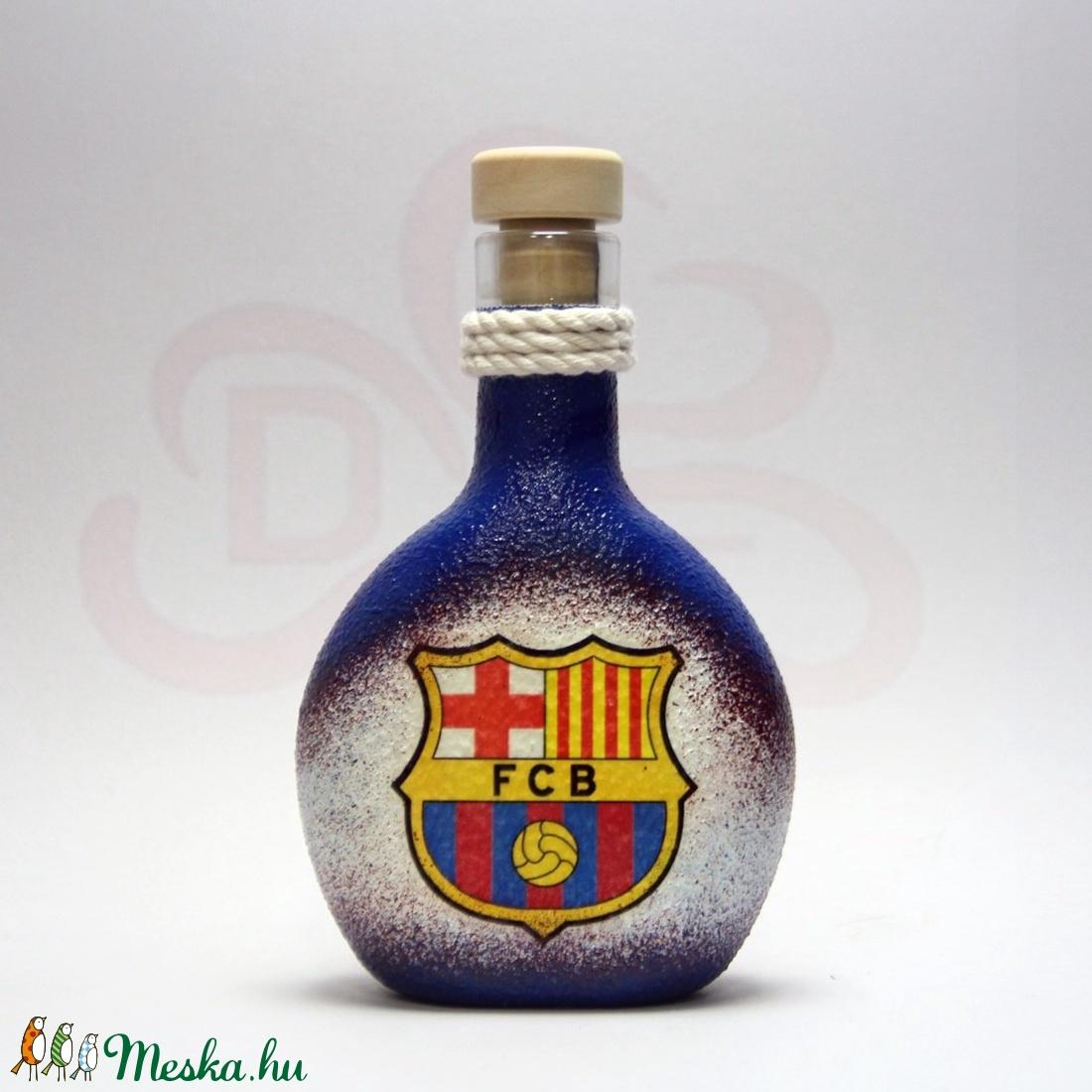 FC Barcelona italos üveg ; Barcelona foci szurkolóknak (decorfantasy) - Meska.hu