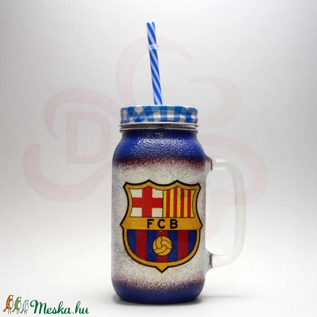FC Barcelona szívószálas bögre ; Barcelona foci szurkoló fiúknak, gyerekeknek - Meska.hu