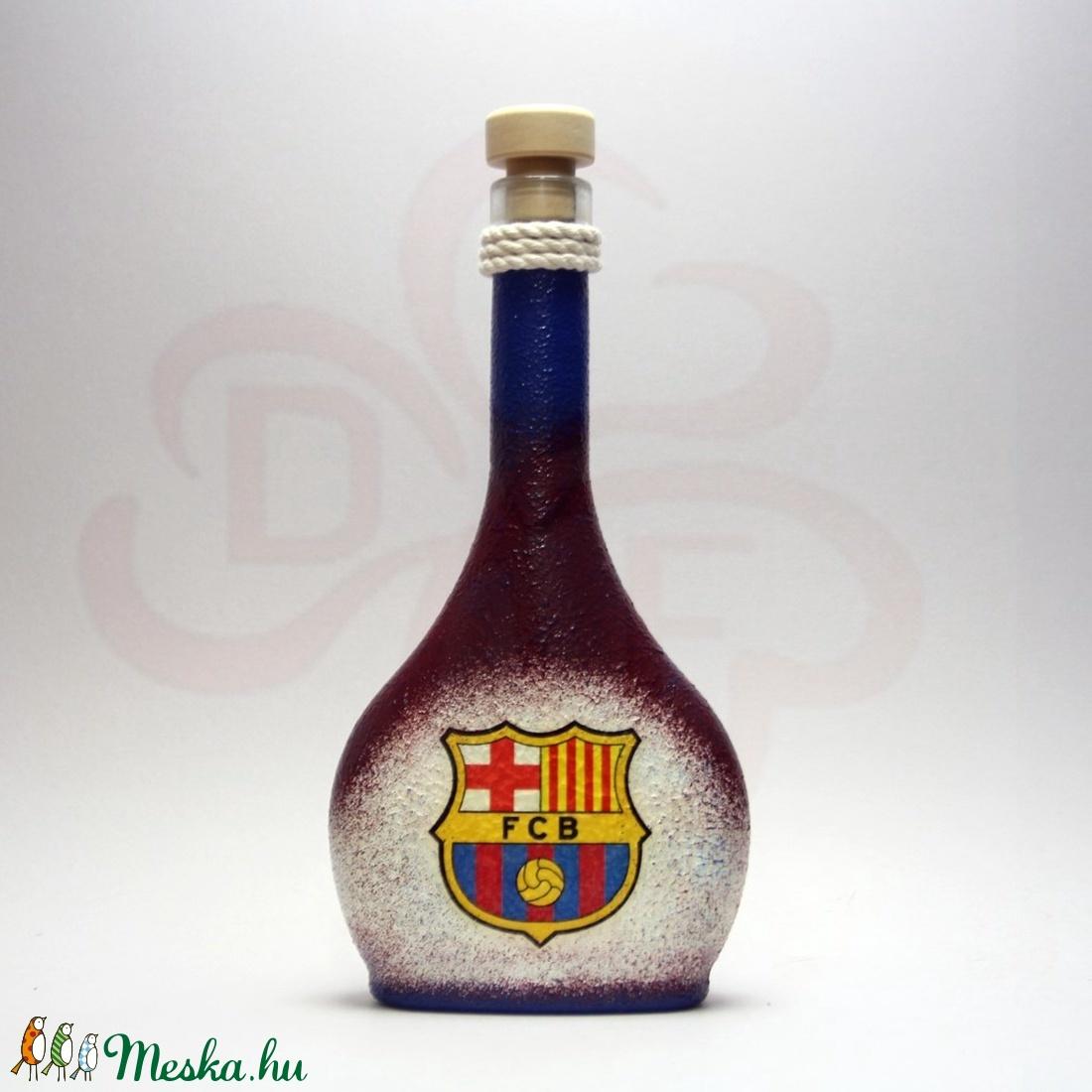 FC Barcelona italos üveg ; Barcelona futball szurkolóknak - Meska.hu