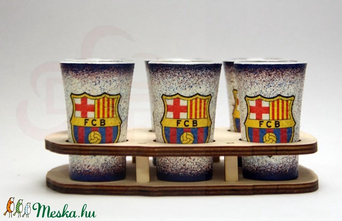 FC Barcelona pálinka pohárszett  ; Barcelona futball szurkolóknak - Meska.hu