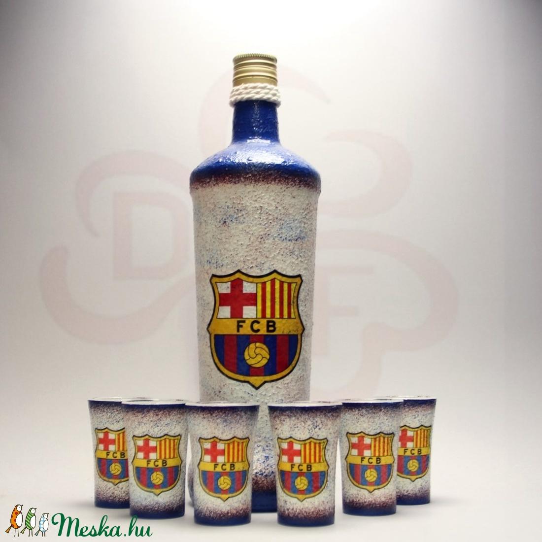 FC Barcelona pálinkás készlet ; Barcelona futball szurkolóknak - Meska.hu