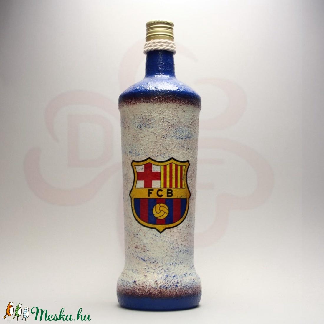 FC Barcelona pálinkás üveg ; Barcelona futball szurkolóknak - Meska.hu