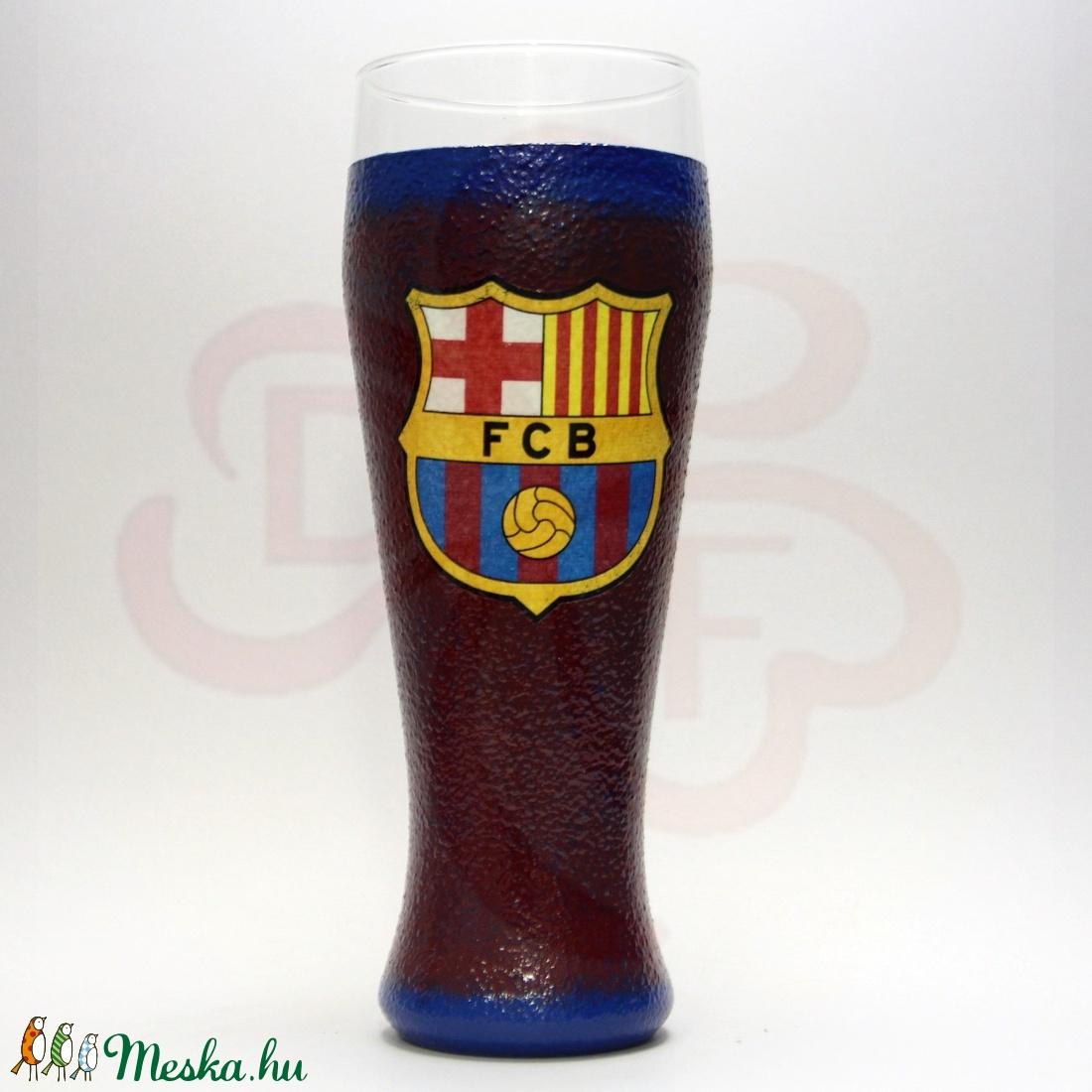 FC Barcelona sörös pohár ; Barcelona foci szurkolóknak - Meska.hu