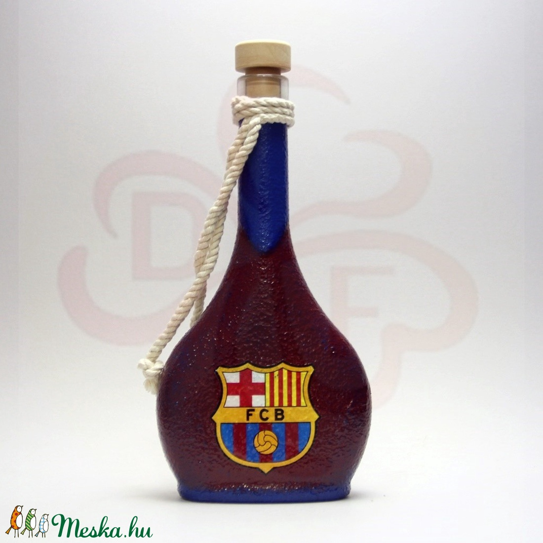 FC Barcelona pálinkás flaska; Barcelona futball szurkolóknak - Meska.hu
