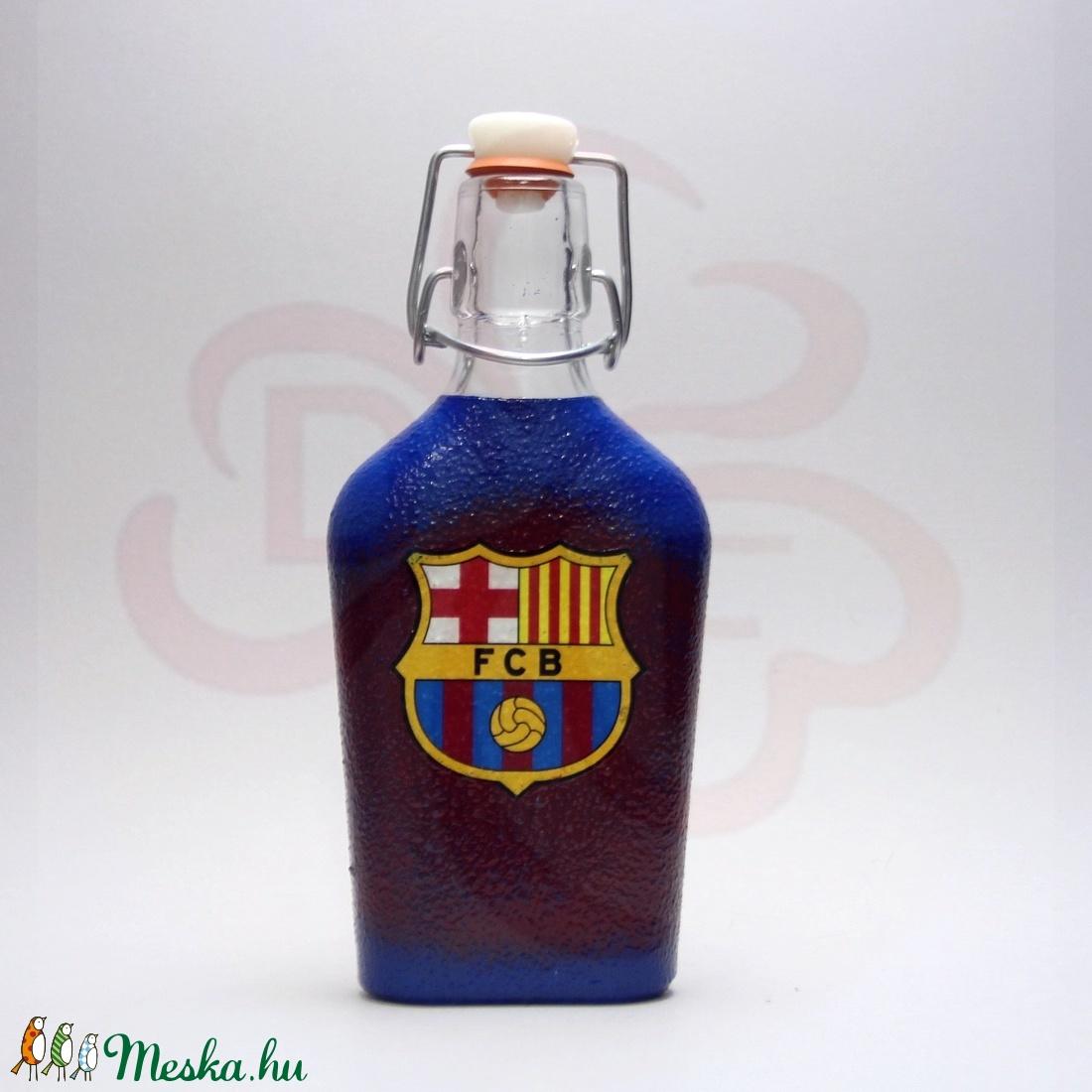 FC Barcelona kis csatosüveg ; Barcelona futball szurkolóknak - otthon & lakás - dekoráció - díszüveg - Meska.hu