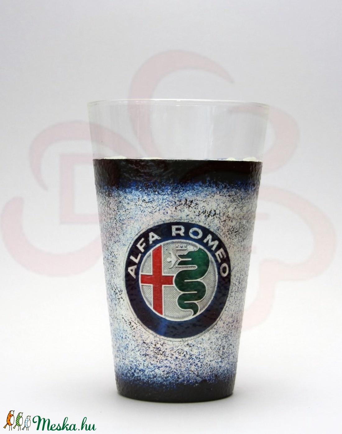 Alfa Romeo üdítős pohár; Saját Alfa autód fotójával is!  (decorfantasy) - Meska.hu