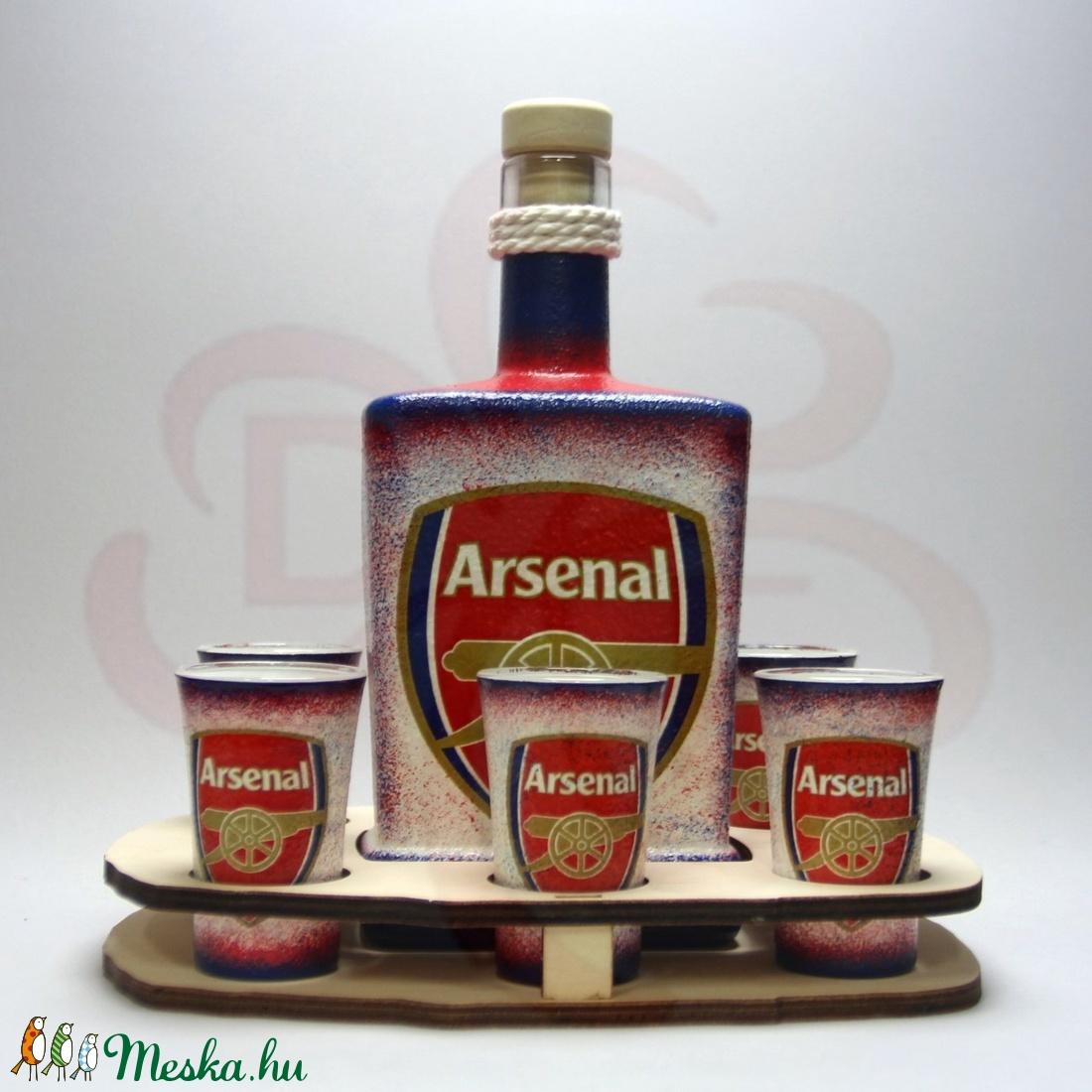 ARSENAL pálinkás szett  ; Arsenal futball szurkolóknak - otthon & lakás - konyhafelszerelés - pohár - Meska.hu