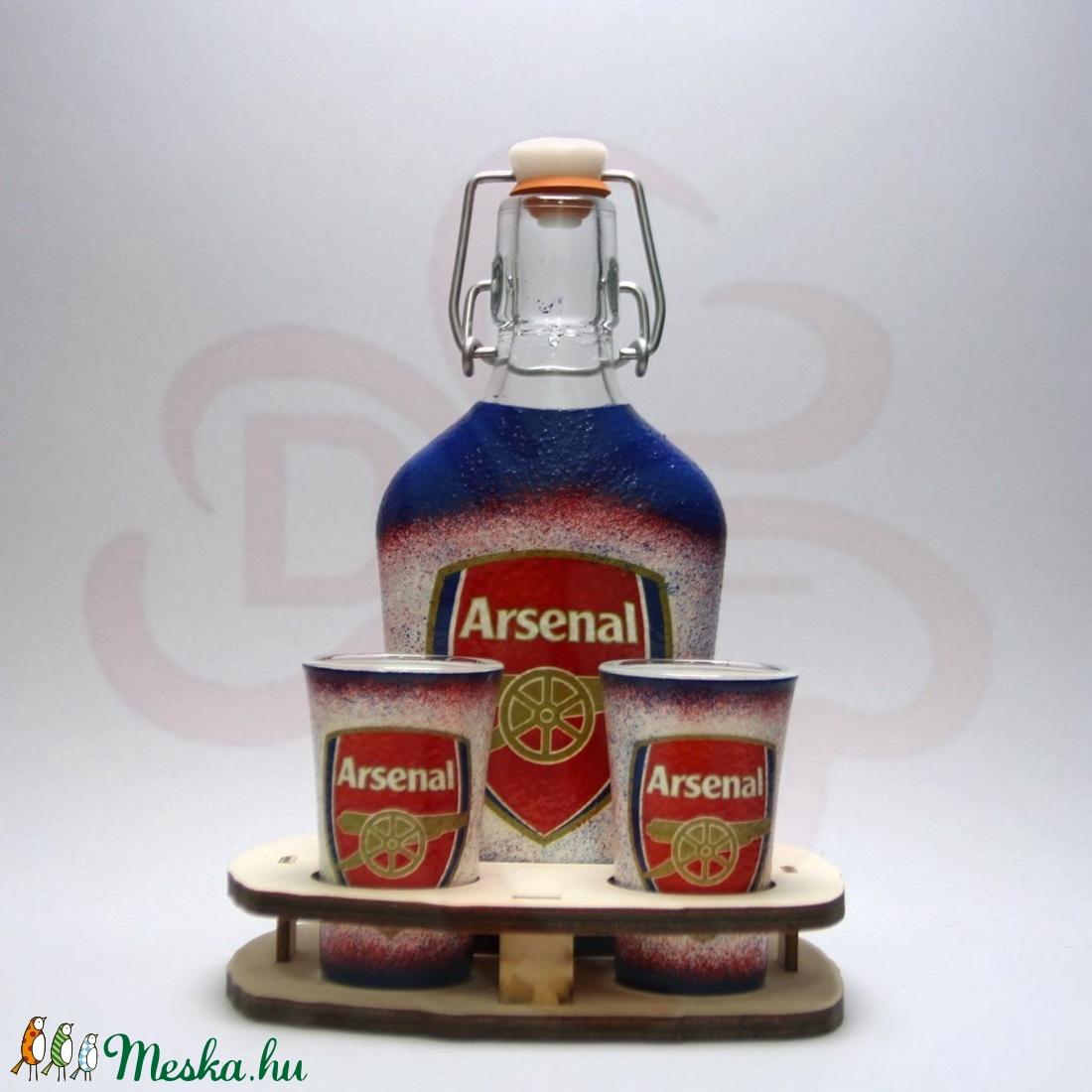 ARSENAL pálinkás szett  ; Igazán egyedi Arsenal szurkolói ajándék - Meska.hu