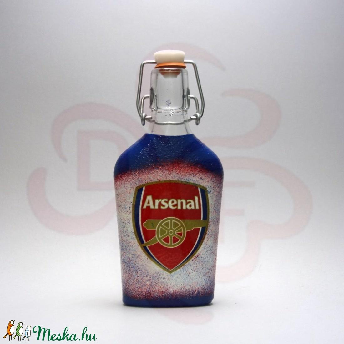 ARSENAL csatosüveg  ; Igazán egyedi Arsenal szurkolói ajándék. - Meska.hu