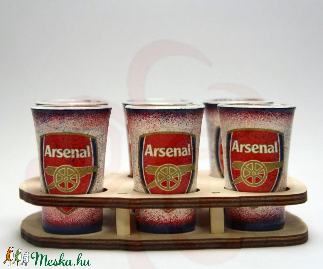 ARSENAL pohár szett  ; Igazán egyedi Arsenal szurkolói ajándék. - Meska.hu
