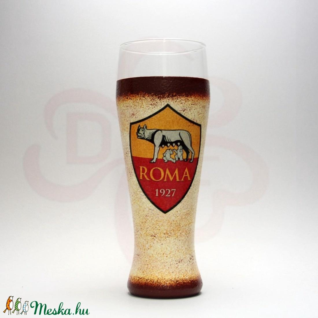 AS Roma sörös pohár ; As Roma foci szurkolóknak - Meska.hu