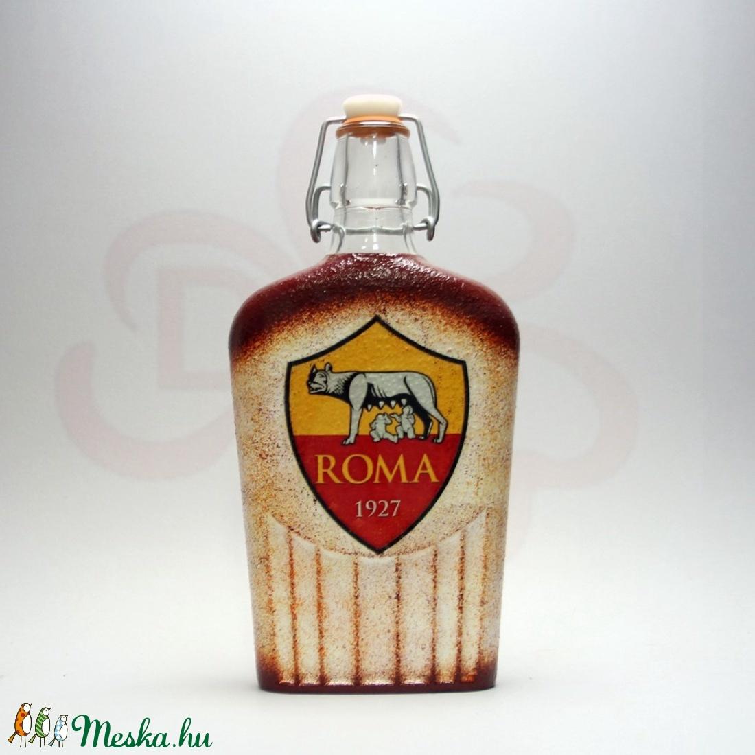 AS Roma emblémás csatosüveg ; As Roma foci kedvelő férfiaknak - Meska.hu