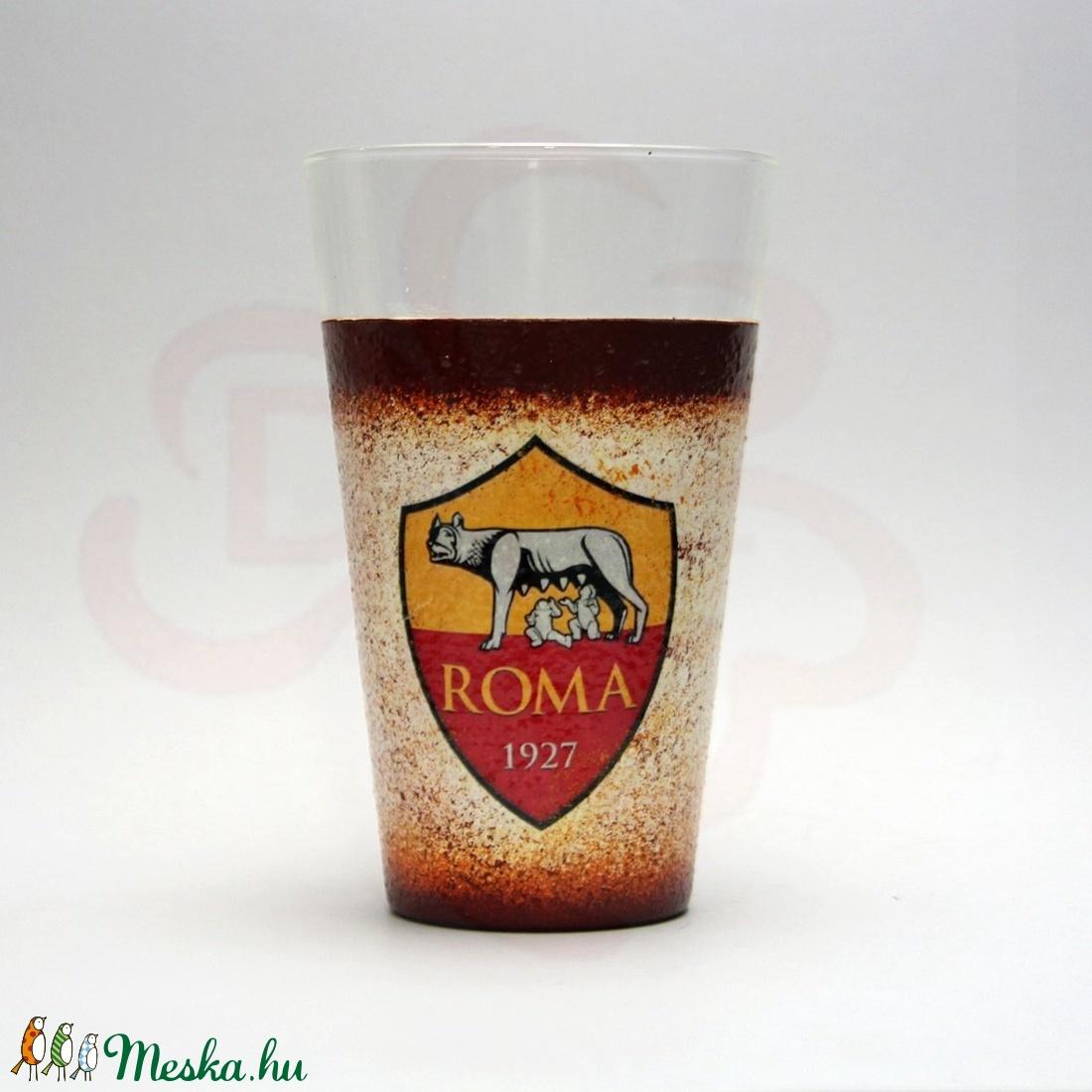 AS Roma vizes pohár ; As Roma foci szurkolóknak - Meska.hu