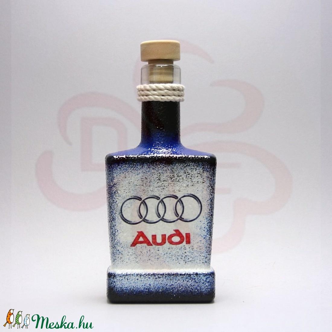 Audi whiskys üveg ; Audi rajongóknak - Meska.hu
