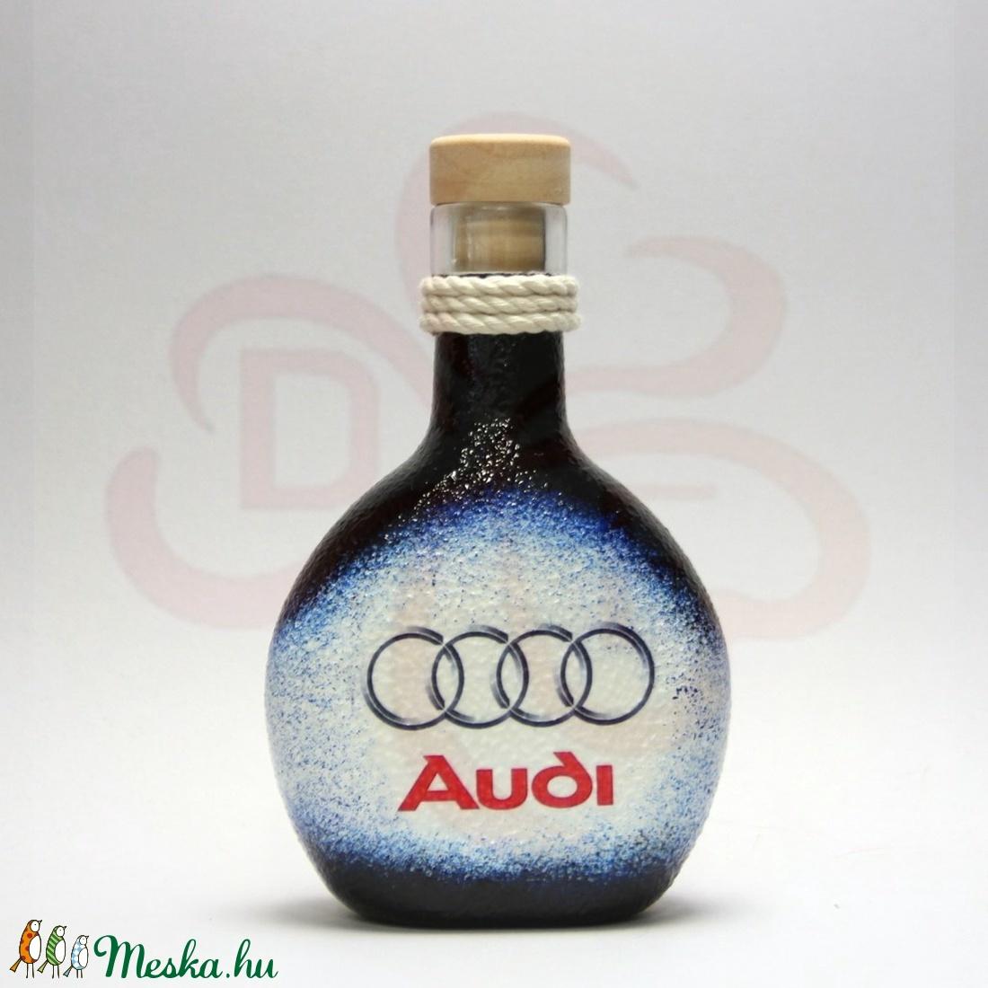 Audi pálinkás flaska ; Audi rajongóknak - Meska.hu