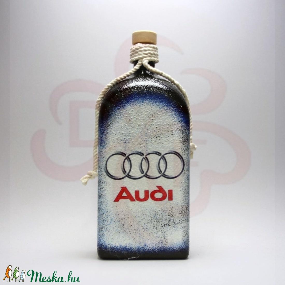 Audi pálinkás üveg ; Audi rajongóknak - Meska.hu
