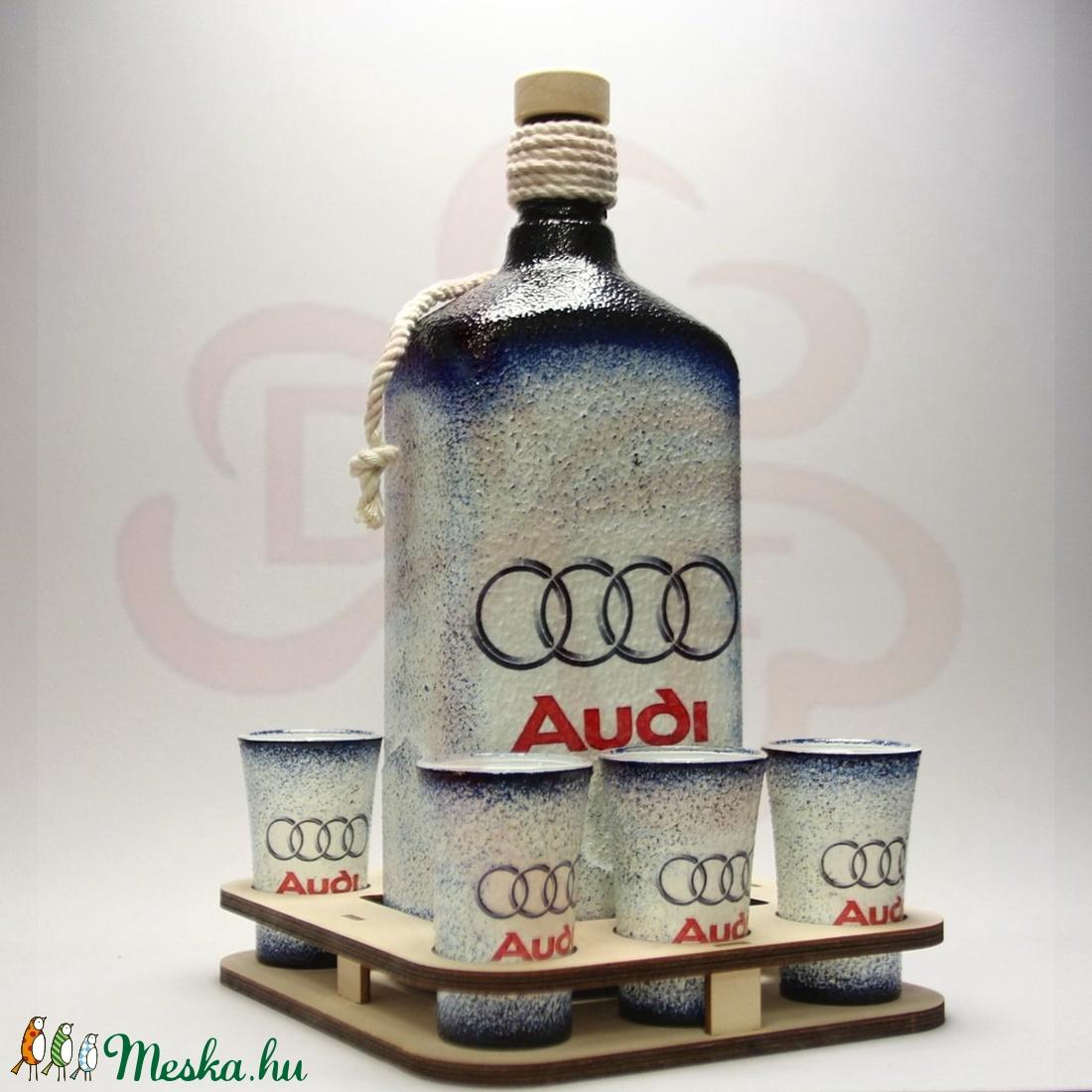 Audi pálinkás készlet ; Audi rajongóknak - Meska.hu