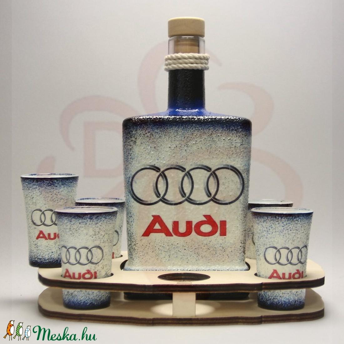Audi whiskys készlet audi autó rajongóknak - Meska.hu